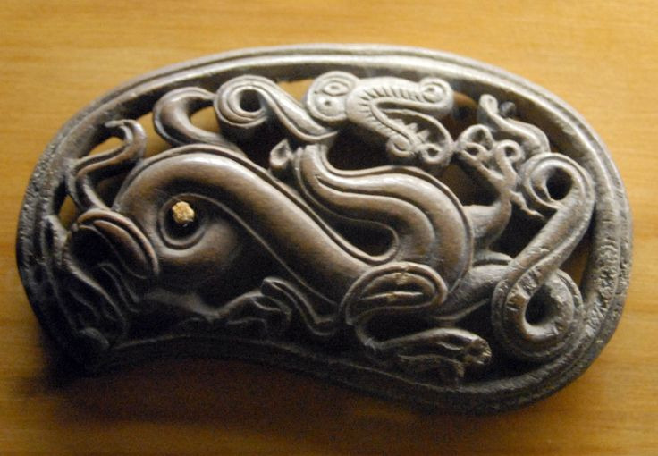 Metal Dragon Pendant - Novgorod Archaeology - Novgorod is a highly significant Medieval site in Europe.