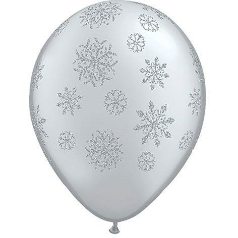 Round Snowflake Balloon: every purchase through this link supports charity