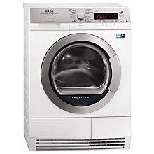 Buy AEG T88595IS ÖKO Sensor Heat Pump Condenser Tumble Dryer, 9kg Load, A++ Energy Rating, White Online at johnlewis.com
