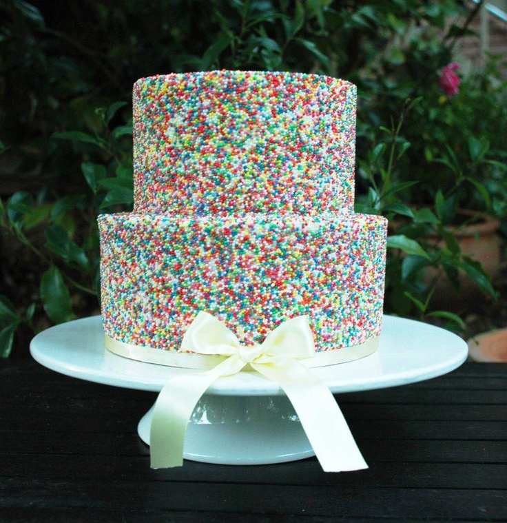 Hundreds And Thousands Party-style Wedding Cake