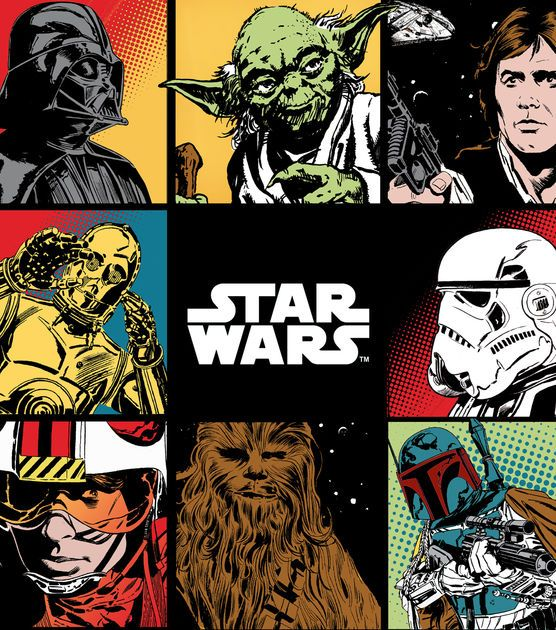 Star Wars Ultra Cuddle Fleece Fabric. Hubs is making a baby blanket out of this...