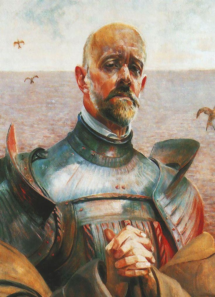 """Jacek Malczewski """"Autoportret w zbroi"""""""