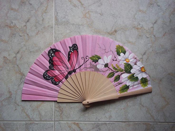 #abanicos #valian #valianart #pintadoamano #mariposa