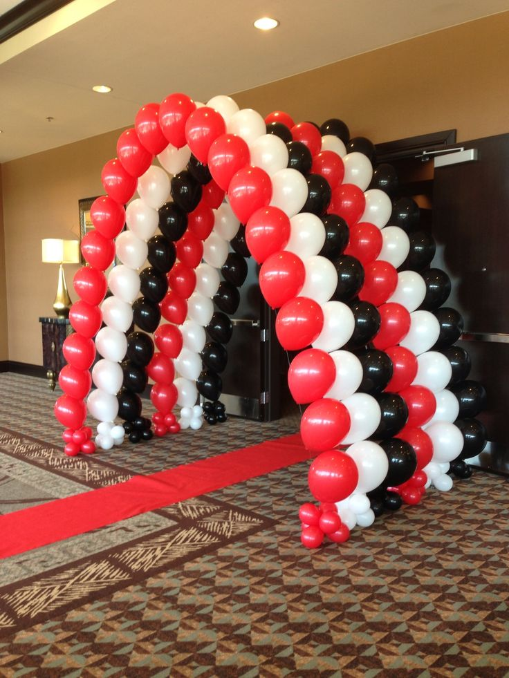 Casino Tunnel Of Balloons In Red White And Black