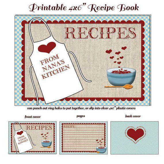 nanas nostalgic recipe cards printable diy by