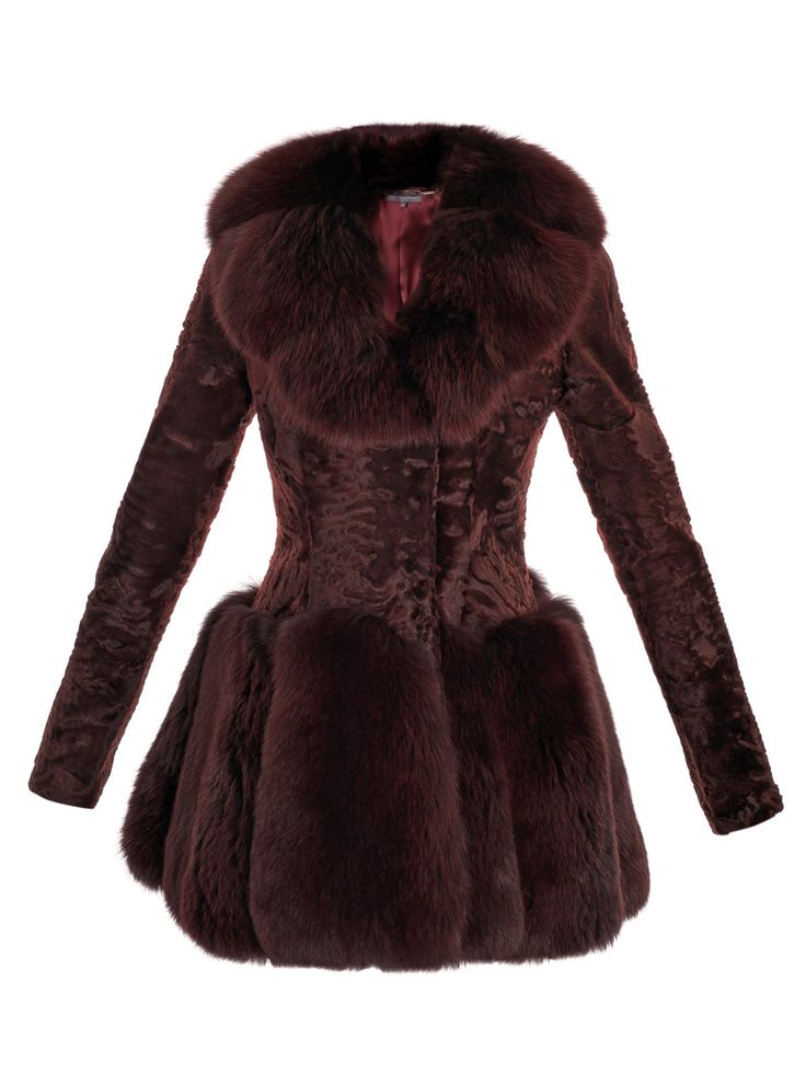 Alexander McQueen Astrakhan and fox fur coat. Get this, a car, or make a dent in student loans...