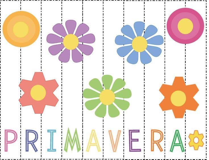 Aprendizaje Divertido: Spring Blog Fest - Imprimible: Rompecabeza de Primavera