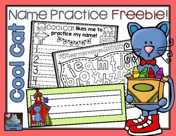 FREE Name Practice with Cool Cat!