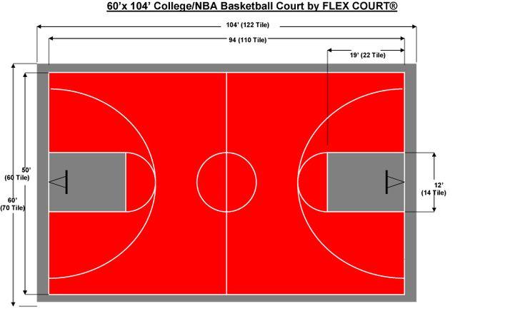 60 x 104 NBA/NCAA Sized Basketball Court   Backyard ideas ...