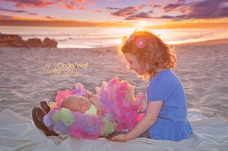That day you become a big sister... is a day you never forget! ©Cindie Wolf Photography San Diego Beach Photographer, San Diego Photographer