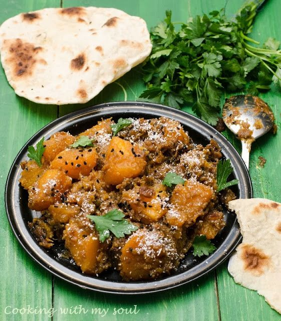 {vegan} Dovleac indian si Paine chapati