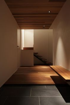 Love the 2 materials for the entrance - cubo design architect / 2kam residence, kamakura