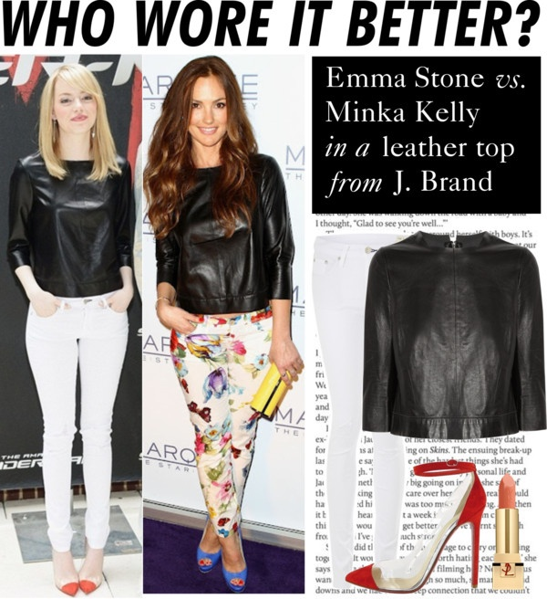 """""""Who Wore It Better: Emma Stone or Minka Kelly"""" by polyvore-editorial ❤ liked on Polyvore"""