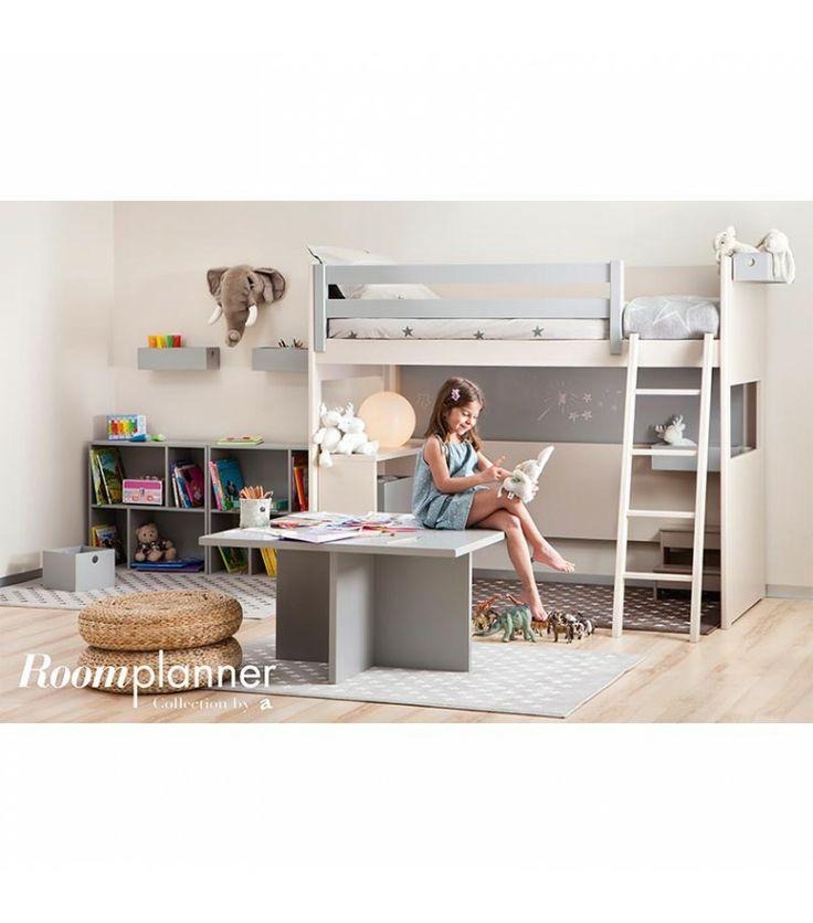 Lit mezzanine enfant Liso H163 cm - Asoral - Ma Chambramoi