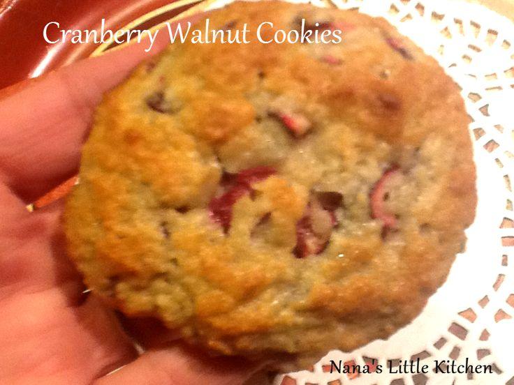 Nana's Little Kitchen: Cranberry Walnut Protein Cookies