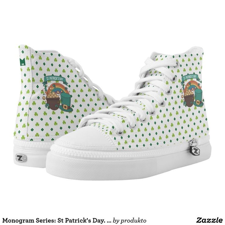 Monogram Series: St Patrick's Day. Lucky Clover. #stpatricksday st.patricks day #shamrock #sneakers saints patricks day outfits #womensday shoes sneakers Shoes heels shoes teen shoes flats shoes boots womens shoes sneakers womens shoes flats womens shoes high heels womens shoes casual womns shoes for work mens shoes casual mens shoes with jeans mens shoes dress st patricks day shoes  #shoesoftheday #shoes zazzle produtc #irish #womensshoes #mensshoes #heels #boots canvas shoes #canvasshoes…