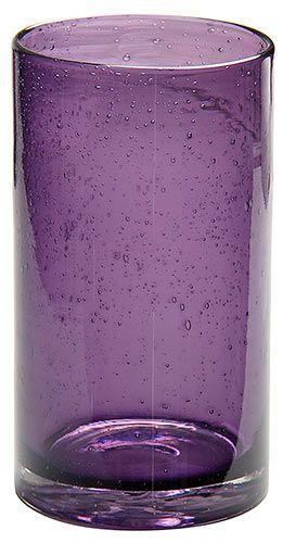 Bubble Purple Drinking Glasses
