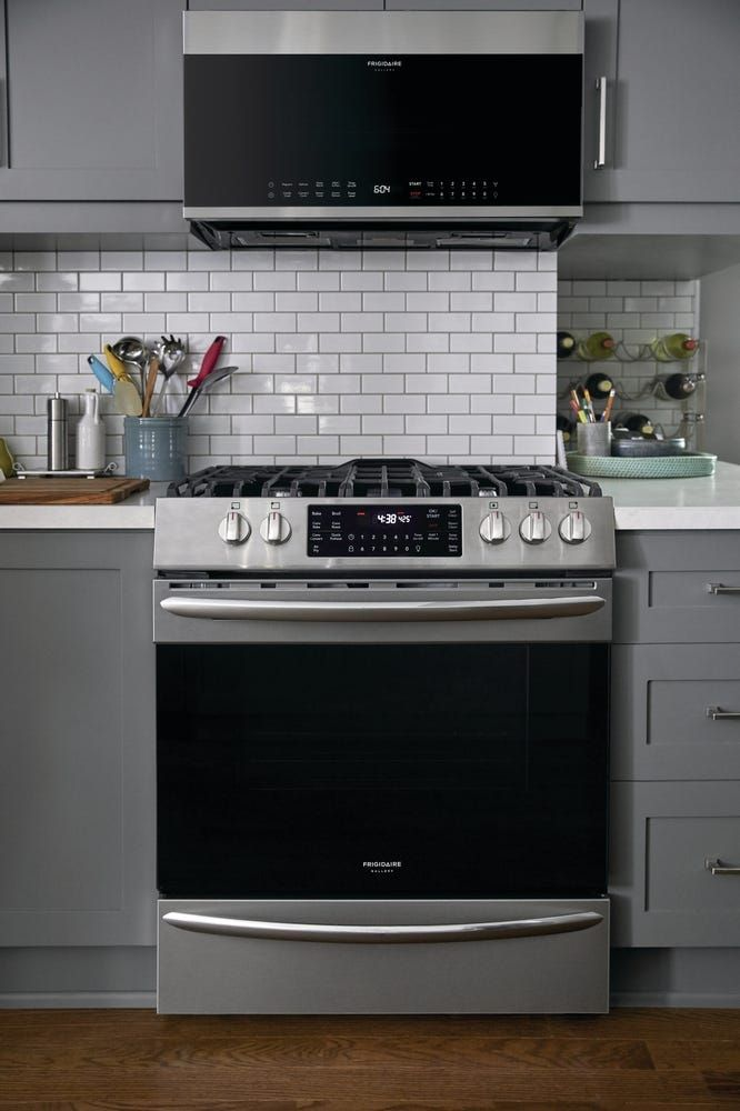 Frigidaire 30 Inch 1 5 Cu Ft Over The Range Microwave With Convection In Stainless Steel In 2020 Frigidaire Gallery Kitchen Range Microwave Convection
