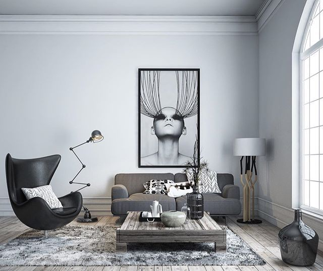30 Black White Living Rooms That Work Their Monochrome Magic: Pin By LaRon Butler On Own Georgia Real Estate