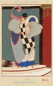 写真:シャルル・マルタン《雪》『モード・エ・マニエル・ドージュルデュイ』1913年 神戸ファッション美術館蔵