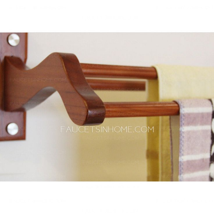 Decorative Bathroom Towel Bars Used Wood Material, Has Environmental  Painting For Sleek Appearance, Has Four Bars For Bathroom Wall Mount  Installation, ...