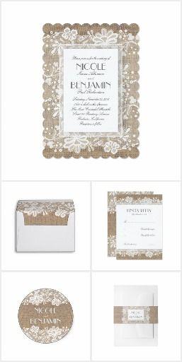 The Burlap and Lace Suite Rustic burlap and vintage floral lace elegant products collection #weddingideas  #weddinginvitations  #lacewedding #rusticwedding