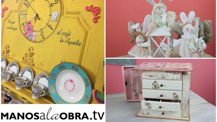 ManosalaObraTv Programa 5 - Mueble Vintage - Stencils - Reciclado - Muñe...