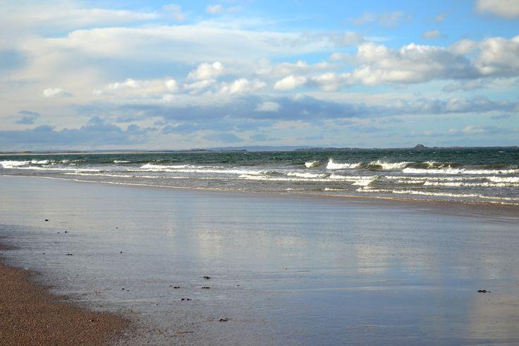 Bamburgh Beach, Scotland.