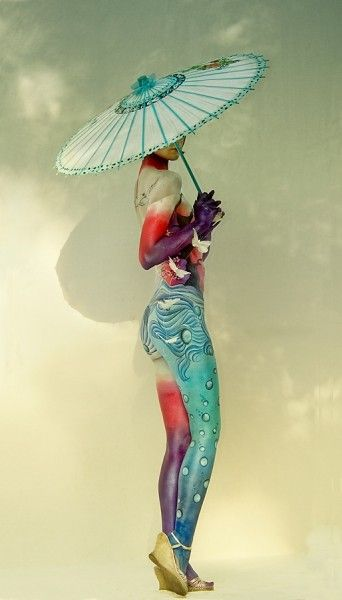 Gorgeous body paintBelly Rings, Handbodi Art, Incr Body, Peter O'Tool, Parasol, Body Painting, Body Art, Bodyart, Peter Kemp