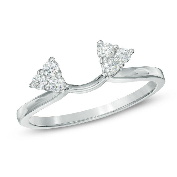 10k White Gold 0 19 Ct Solitaire Enhancer Diamonds Ring: 1000+ Ideas About Solitaire Enhancer On Pinterest
