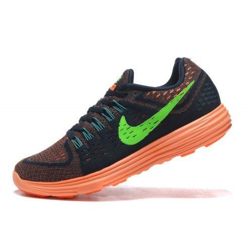 Ny Nike Lunartempo Menn Joggesko Svart Oransje