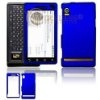 Blue Rubberized Protector Case Hard Cover for Motorola Droid A855
