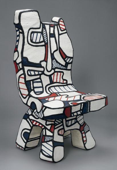 -JeanDubuffet- 'chaise de pratique fonction' (1969.1972)
