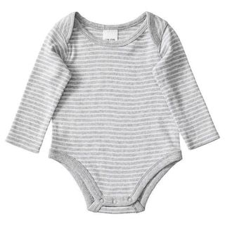 Baby Long Sleeve Stripe Print Bodysuit
