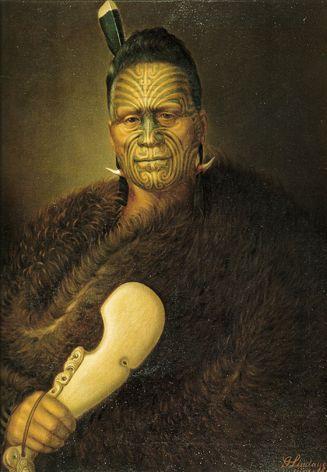 King Tawhiao Matutaera Potatau Te Whero Whero, oil painting by Gottfried Lindauer