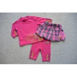 La Compagnie des Petits 3 dlg set roze/geruite mt 62/3 mnd