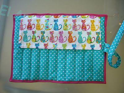 Crochet needles' cover - Tutorial Funda para Agujas de Crochet