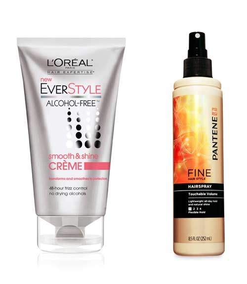 Blow-drying is essential to creating a bob's trademark polish. If your strands are thick, prep damp hair with a smoothing cream (those with thin strands can skip this step). Our pick: L'Oréal Paris EverStyle Smooth & Shine Crème ($7, ulta.com). Wrap sections over a round brush and aim heat on top to smooth the cuticles. Finish with a flexible-hold hairspray like Pantene Fine Hair Style Touchable Volume Hairspray ($4, drugstores).  - GoodHousekeeping.com