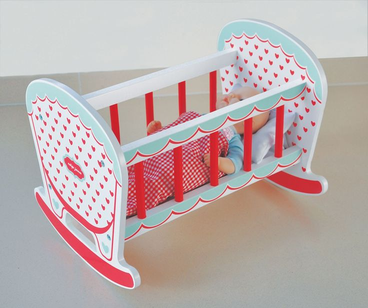 Indigo Jamm - Wooden Rocking Cot Hearts - Christmas Catalogue - Shop Perfect for Miss E's dolly to sleep in. #EntropyWishList and #PinToWin
