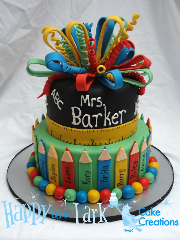 Teacher appreciation crayon cake My Cakes Pinterest ...