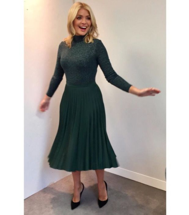 holly willoughby | Exact match! Shop Holly Willoughby's festive outfit on the high-street ...