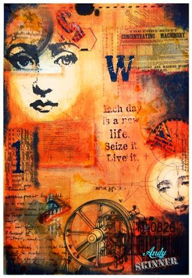 Andy skinner altered art mixed media collage