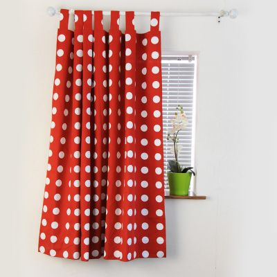 纯棉加厚 田园 纯色 圆点 窗帘 布艺成品可定制定做 赫本波点系列-淘宝网 custom curtain store. lots of fabric options. 58-75rmb