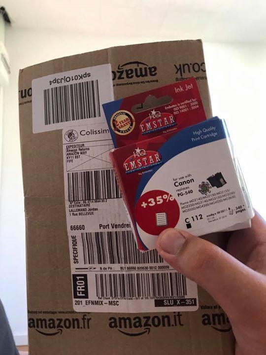 Je commande un pack de cartouche d'encre original de la marque Canon, et je reçois une cartouche compatible ... le truc qui n'a rien à voir avec ce que j'ai commandé ! Et en + ça n'a pas du tout la même valeur ! Merci pour l'arnaque Amazon ! Vendu et expédié par Amazon ... #StupidPrices