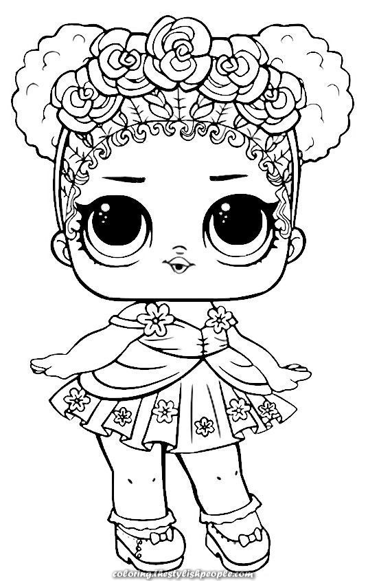 LOL dolls to paint | Unicorn coloring pages