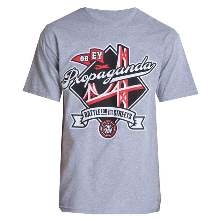 OBEY Battle For The Streets tee-shirt heather grey 30€ #OBEY #tee #tshirt #tees #tshirts #skate #obama #skateboard #skateboarding