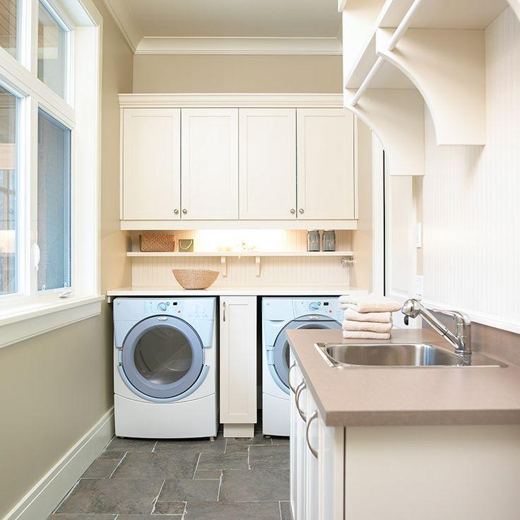 mobilier sur mesure pour salle de lavage style shaker