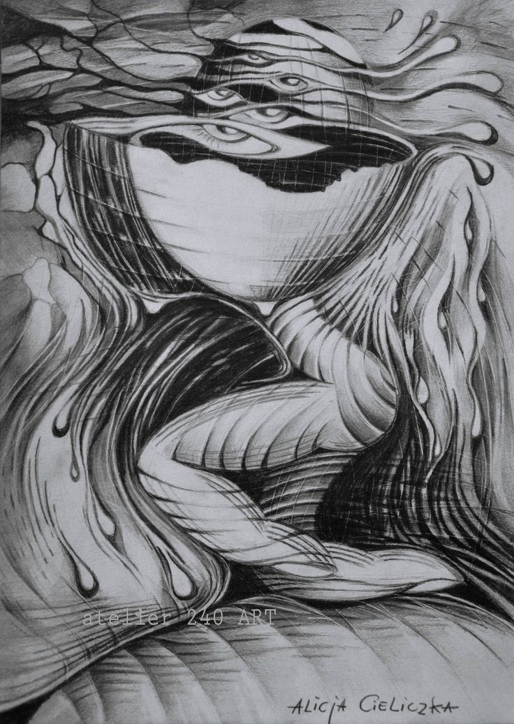"https://flic.kr/p/H9oQQs | ""Unbearable pain"", drawing | pencil on paper, 24x33 cm"