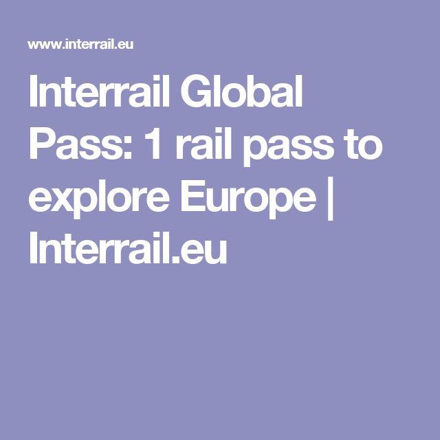 Interrail Global Pass: 1 rail pass to explore Europe   Interrail.eu