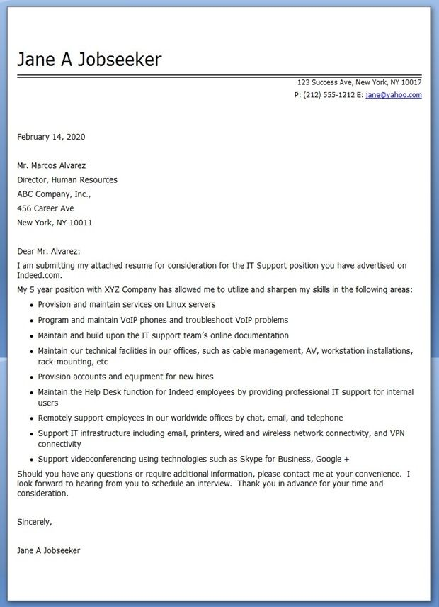 13 best cover letters images on Pinterest Cover letter sample - employment letter example